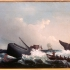 Painting of a 19th Century whale hunt 19世纪捕鲸油画作品