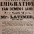 Free emigration to Van Diemen's Land