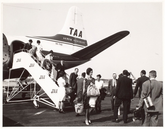 Migrant teachers arriving from the UK to work in Tasmania.