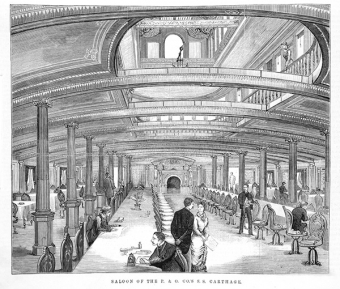 Saloon of the 'SS Carthage'