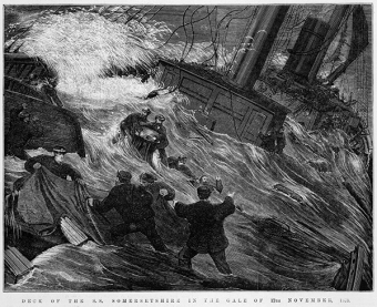 SS 'Somersetshire' in gale (1873)