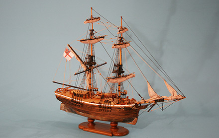 Model of the Lady Nelson Lady Nelson号的模型