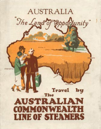 Australian Commonwealth Line of Steamers poster